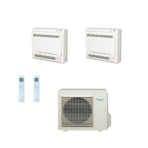 Daikin Air conditioning Multi 4MXS80E Heat Pump Inverter 2 x FVXS50F (5Kw17000Btu) Floor/Console​ A+ 240V~50Hz